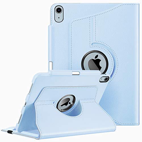 """Fintie Hülle für Neu iPad Air 10,9\"""" 2020 (Neuste Modell, 4. Generation) mit Pencil Halter - 360 Grad verstellbare Schutzhülle Cover mit mit Standfunktion, Auto Sleep/Wake, Himmelblau"""