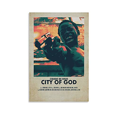 SHUIU Poster de film Cité de Dieu - Décoration murale sur toile - Pour salon, chambre à coucher - 30 x 45 cm
