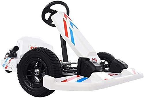 Kid's Go Kart Ride Kart elettrico alla deriva con luci lampeggianti, Scooter da corsa all'aperto Giocattolo da equitazione Auto a pedali a 4 ruote per ragazzi e ragazze, Esercizio per bambini Regalo