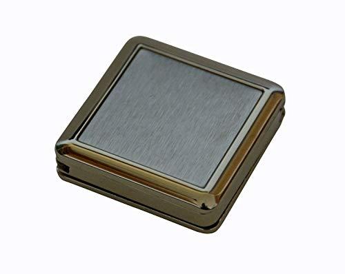 all-around24 Metall Handtaschenhalter Montreux.Taschenhalter im Geschenkbox/Etui / - perfekt für unterwegs (Edelstahl, Eckig 40 x 40 x 11mm)