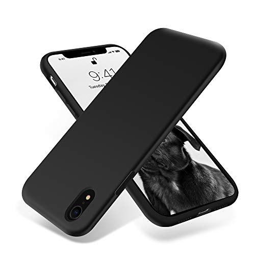 OTOFLY for iPhone XR Case, [Silky and Soft Touch Series] Premium Soft Silicone Rubber Full-Body Protective Bumper Case Compatible with Apple iPhone XR - Midnight Blue