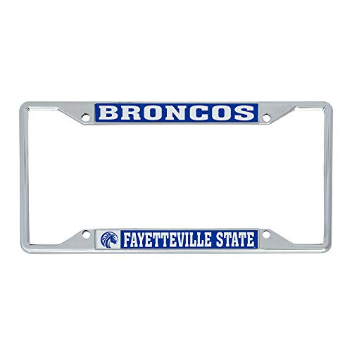 Desert Cactus Fayetteville State University FSU Broncos NCAA Metal License Plate Frame for Front or Back of Car Officially Licensed (Mascot)
