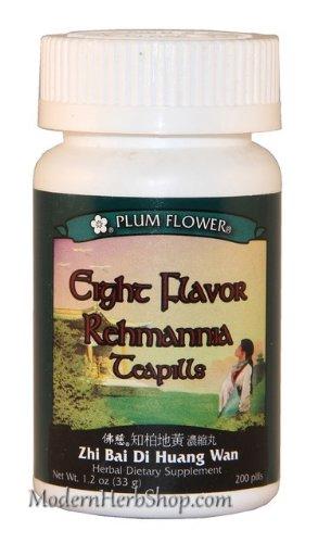 Eight Flavor Rehmannia (Zhi Bai Di Huang Wan), 200 ct, Plum Flower