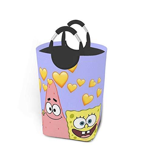 KSHGZH Laundry Basket Collapsible Laundry Hamper - Spongebob Squarepants and Patrick Clothes Bag Storage Basket, Folding Washing Bin 50l