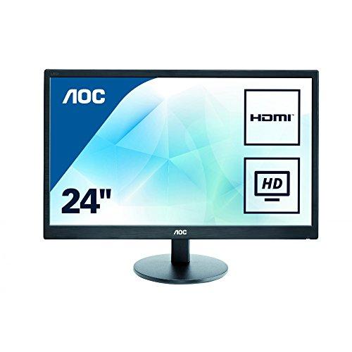 AOC E2475SWJ 59,9 cm (23,6 Zoll) Monitor (VGA, DVI, HDMI, 1920x1080, 60 Hz, 2ms Reaktionszeit) schwarz
