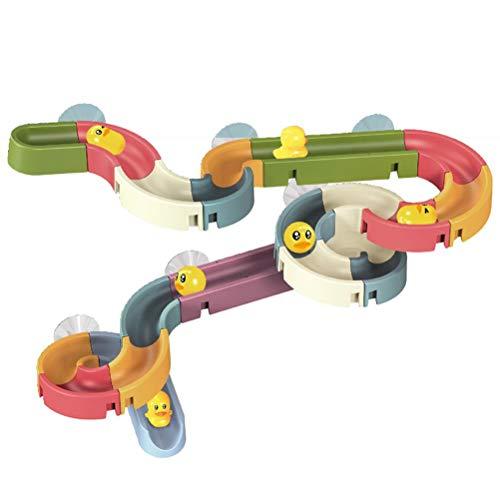 YsaAsaa Badespielzeug, Kleinkind-Bade-Wasserpfeife, Rutsche, DIY-Badespielzeug, Wasserbahn-Spiele, zum Auseinandernehmen, Badewannen-Spielzeug für Kinder, DIY-Marmorläufe, Geschenk