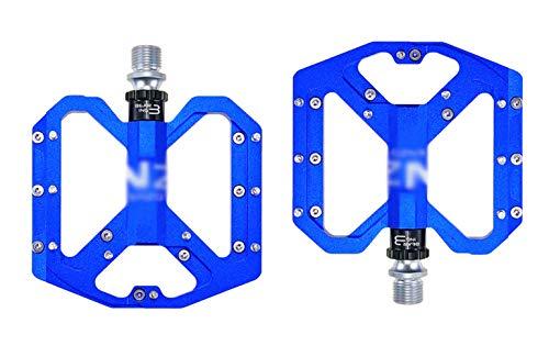 VNIUBI Pedales Bicicleta Montaña Pedales Bici de Aluminio Pedales para Carretera 9/16' Pulgadas Plataforma Mixtos MTB Pedales(Blue)