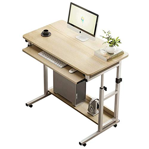 Computer Desktop Tafel, Kunstmatige Board met wielen Computer Tafel, Simple Verwisselbare Lazy Man, Huis aan het bed, Modern Slaapkamer Small Table