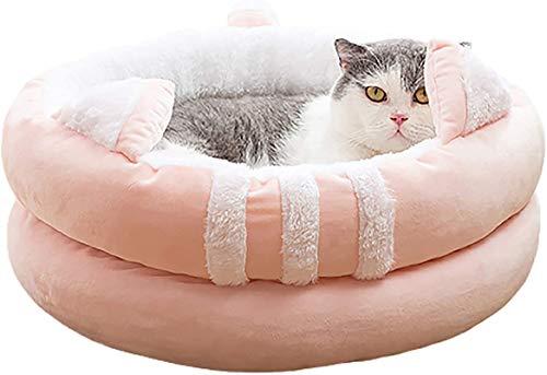 Perro cama Creative Cat Litterr, almohada de gato, cálido y suave mascota acogedora anti ansiedad camas para dormir mejorado, doble capa envuelta, universal en todas las estaciones, antideslizante y l