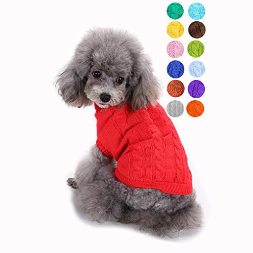 Small Dog Sweater, Warm Pet Sweater, Cute Knitted...