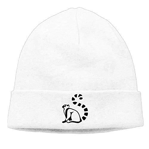 hgdfhfgd Winter Beanie Hüte Schädel Strickmützen Adult Unisex Cute Ring Tail Lemur Multicolor74