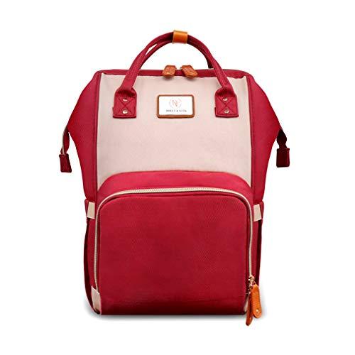 Nappy rugzak rugzak + accessoires luier veranderen tas waterdicht multi-functie L Ivory/Red