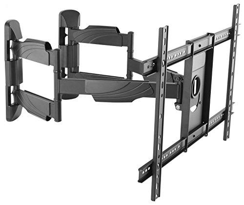 RICOO S5364, Eck TV Wandhalterung, Schwenkbar, Neigbar, für 37-70 Zoll (94-178 cm), Fernseh-Halter, Aufhängung, Curved LCD LED, VESA 600x400, Schwarz