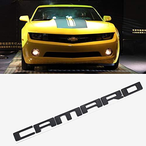 D28JD Camaro Logo Emblem für die Motorhaube Metallbuchstaben Aufkleber für C-hevrolet Camaro,Schwarz