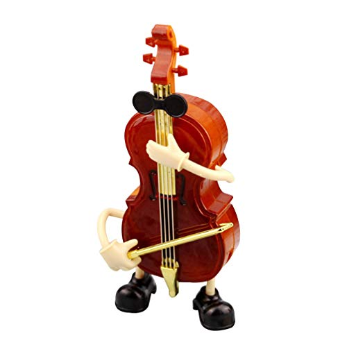 BESPORTBLE Caja de Música Violín Figurilla Escritorio Instrumento Musical Ornamento Melodía Juguete para Estudiantes Niños