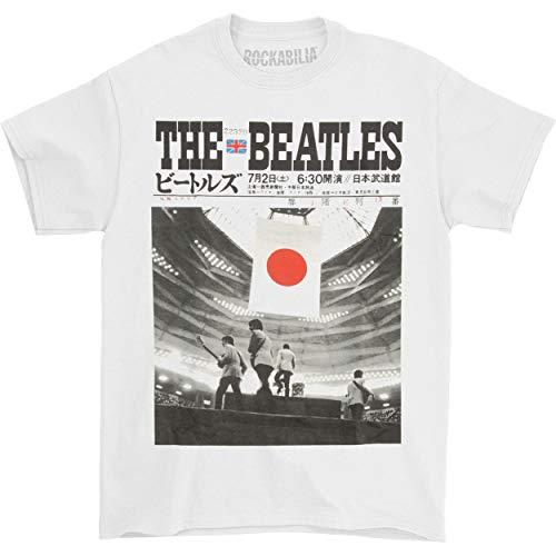 The Beatles Herren T-Shirt Live at The Budokan Gr. XL, weiß