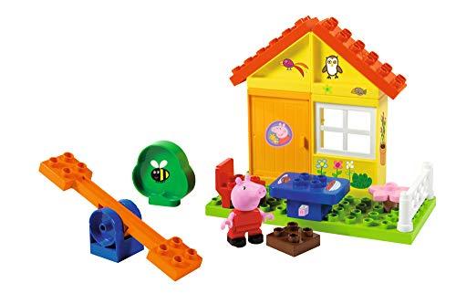 BIG Spielwarenfabrik 800057073 BIG-Bloxx Peppa Garten Haus - Peppa's Garden House, Construction Set, BIG-Bloxx Set inklusive Peppa, 19 Teile, Multicolour, für Kinder ab 18 Monaten