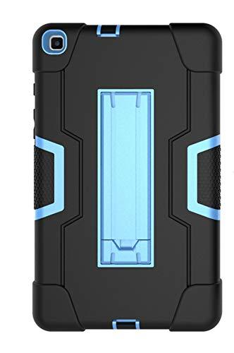 ZETIAN para el Estuche Samsung SM-T290 8.0 Pulgadas T290 T295 Soporte de Tableta de Silicona a Prueba de Golpes Capa para Samsung Galaxy Tab A 8.0 (2019) SM-T290-Negro y Azul_Modelos SM-T290 T295