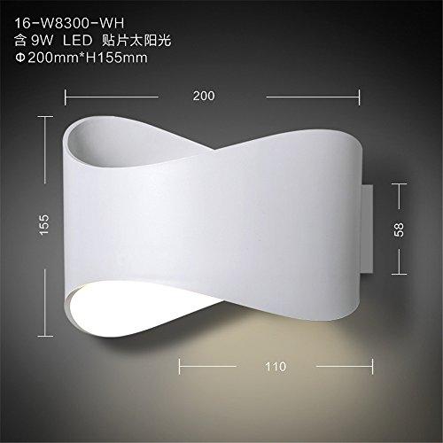 YU-K Chambre minimaliste lampe de chevet lampe murale applique murale salon personnalisé l'étude du corridor routier wall lamp wall lamp sur le lit, balcon mur LED lights feux de mur de salle de bains