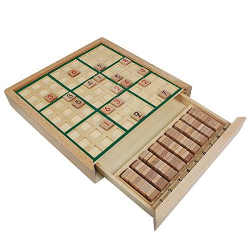 Andux Zone Holz Sudoku Brett Spiele Mit Schublade SD-02 (Grün)