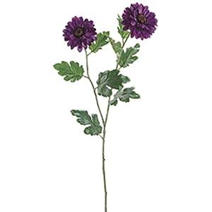 31″ Zinnia Silk Flower Stem -Purple (Pack of 12)