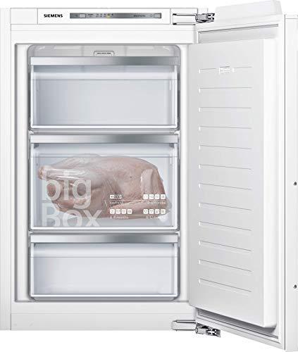 Siemens GI21VAFE0 iQ500 - Congelador empotrado (E, 176 kWh/año, 96 l, baja congelación, caja grande, iluminación interior LED)