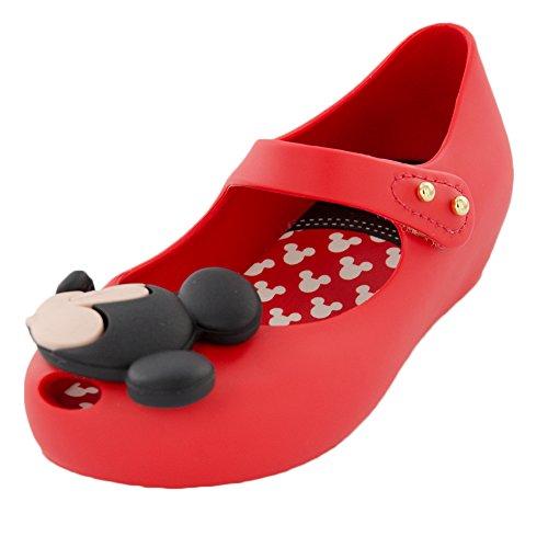Mini Melissa Ultragirl Disney Twins BB Mary Jane Shoe (Toddler), Red, 5 M US Toddler