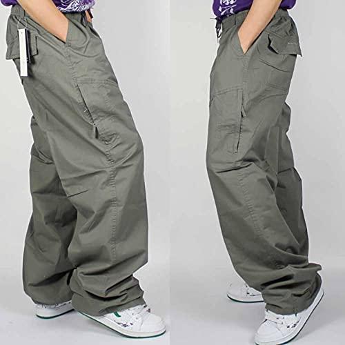 N\C COFANDY Pantalones de Lino para Hombre Pantalones de Playa de Yoga con cordón de Cintura elástica Informal