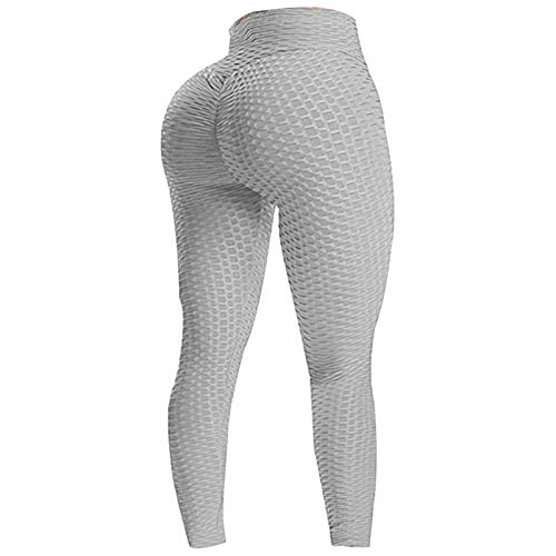 ADAGG Fhogan - Pantalones de yoga para fitness, pantalones de yoga y fitness, pantalones de yoga de alta elasticidad, pantalones de yoga jacquard, leggings sexys para gimnasio, pantalones de yoga de