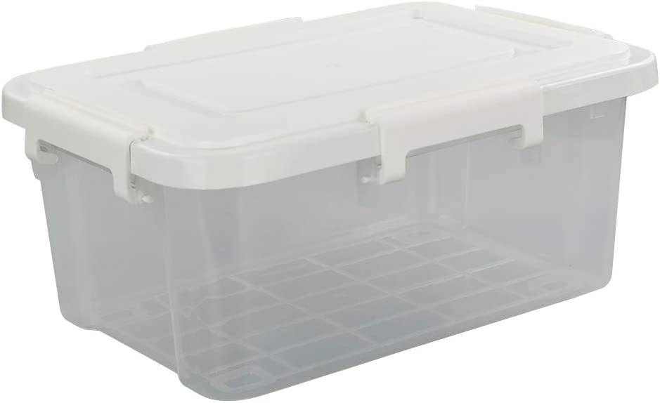 Ggbin 10 Quart Clear Storage Bin with Quality inspection 1 Plastic Cheap SALE Start Latch Pack Lid