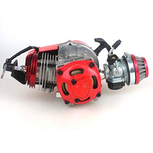 wingsmoto Motore tascabile per bici di grande diametro con cilindro, coperchio e carburatore per motori da competizione (49CC - 52CC) Rosso