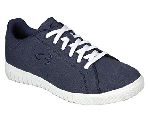 Concept 3 by Skechers Men's Issel Casual Sneaker, Navy Blue, 10.5 Medium US