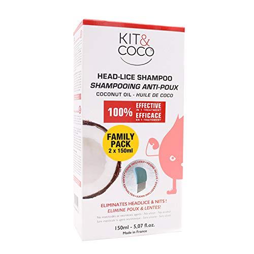Traitement complet poux et lentes de chez KIT & COCO (300ml)