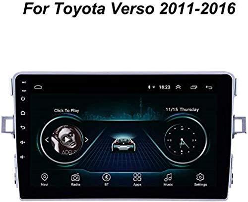 """JFFFFWI 9""""Android 9.0 GPS-Navigation für Toyota Verso 2011-2016 Autoradio Radio GPS-Navigation Großer Touchscreen Autoempfänger Bluetooth Head Unit, 4G WiFi 2G + 32G"""
