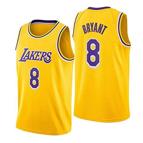 WANLN Camiseta de Baloncesto para Hombre NBA Los Angeles Lakers # 8 Kobe Bryant Bordado Camiseta Fan Jersey sin Mangas Ropa Deportiva,XL