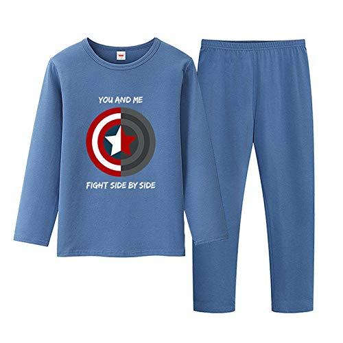 YYXDP Kinderpyjama Anzug Homewear Set, Cartoon Zweiteiligen Pyjama Base Herbst...