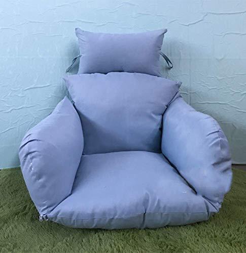 Chair cushion Cojín de Silla giratoria, Grueso Nest Single Basket Hanging Egg Hamaca Cojines de Silla extraíbles y Lavables- Azul Claro