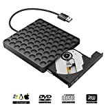 Masterizzatore CD Dvd Esterno,Lettore CD Esterno per PC Portatile USB 3.0 con Cavo CD/Dvd-RW 9.5mm Ottica, per WindowsXP/2003/Win8.1/Wind10/Vista/7, Linux, Mac10 OS