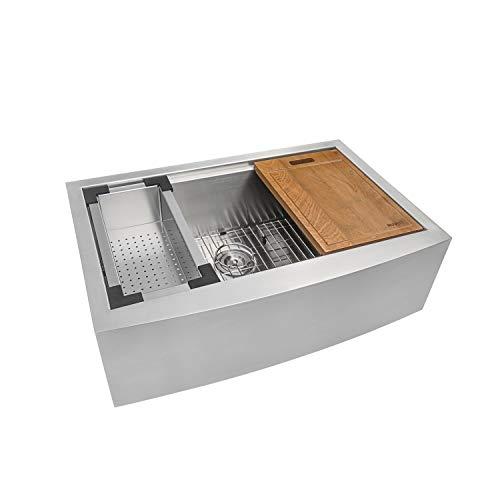 Ruvati Rvh9300 Apron Front 16 Gauge 36″ Kitchen Single Bowl Sink
