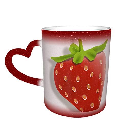 Strawberry Fruit Dessert Berry Ripe Red Delicious Color Changing Mug in The Sky Ceramic Mug Coffee Cup Christmas Birthday Gift