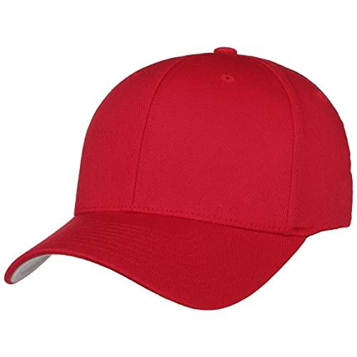 Hutshopping Casquette Flexfit Original - Rouge - Taille L/XL - Dessous de visière gris argenté - Rouge - Taille Unique