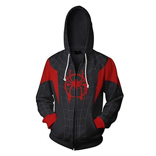 Cosplay Sudadera con Capucha Spider-Man Miles Morales (3XL Tamaño)