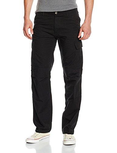 Urban Classics Herren Camouflage Cargo Pants Hose, Schwarz (Black 7), 52 (Herstellergröße: 38)