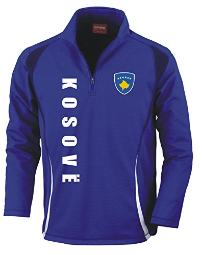 Aprom-Sports Kosovo Trainingstop - Fussball Sport - Blau (M)