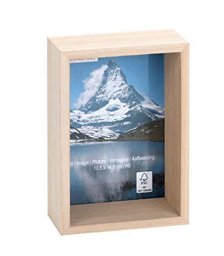 Glorex 6 1683 450 Fotolijst 3D, biedt veel ruimte voor decoratie, ca. 16,4 x 11,2 x 6,2 cm.