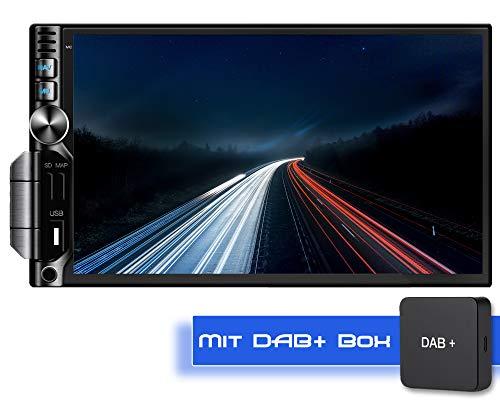 Tristan Auron BT2D7019A Android 9.0 Autoradio + DAB+ Box I 7'' Touchscreen Bildschirm I Bluetooth Freisprecheinrichtung I GPS Quad Core USB SD OBD 2 DAB - 2 DIN