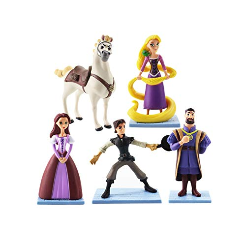 XINGYAO Figurine 5pcs/lot 11cm Princess Rapunzel Figure Toy Tangled Flynn Rider Horse Maximus King Frederic Pascal Magic Girl Model Dolls decoration
