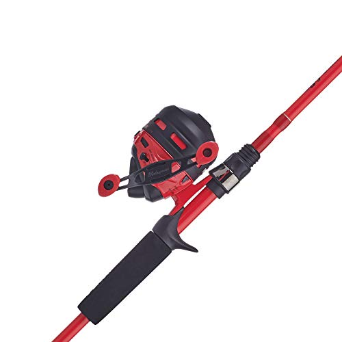Ugly Stik Hi-Lite Spincast Reel and Fishing Rod Combo, Red, 10 Reel...