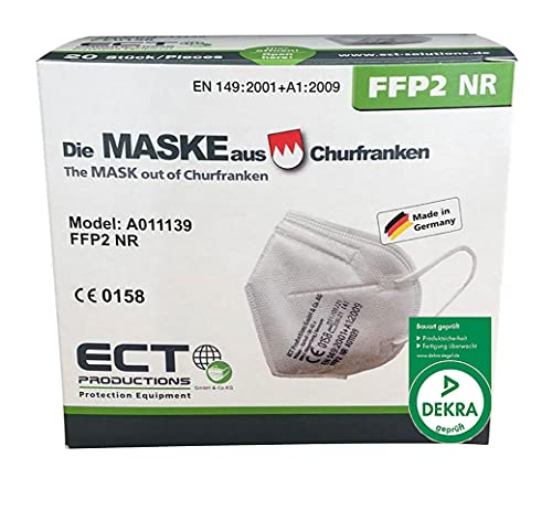 COCO BLANCO FFP2 Masken CE Zertifiziert aus Deutschland I 20 Stück MADE IN GERMANY I DEKRA Zertifiziert I Inklusive Maskenhalter