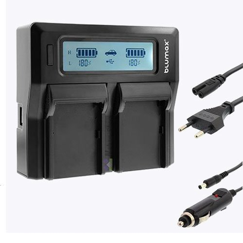 Nahas-Shop Dual LCD Ladegerät für Akku NP-W126 Fuji Fujifilm X100F X-A1 X-A2 X-A3 X-A5 X-A10 X-E1 X-E2 X-E2S X-E3 X-H1 X-M1 X-Pro1 X-Pro2 X-T1 X-T2 X-T10 X-T20 HS30EXR HS33EXR HS50EXR